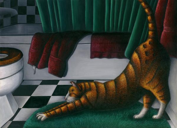 1-cat-stretching-in-bathroom-carol-wilson_003 (600x435, 36Kb)