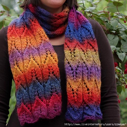 Берет и шарф от Anna-Maija Immonen.  Схемка дана для шапочки, в...