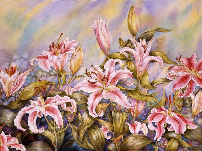 CA26 Oriental Lillies (700x525, 226Kb)