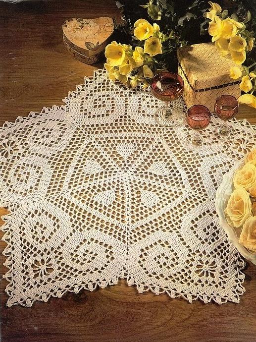 钩针:心形图案的编织品 - maomao - 我随心动