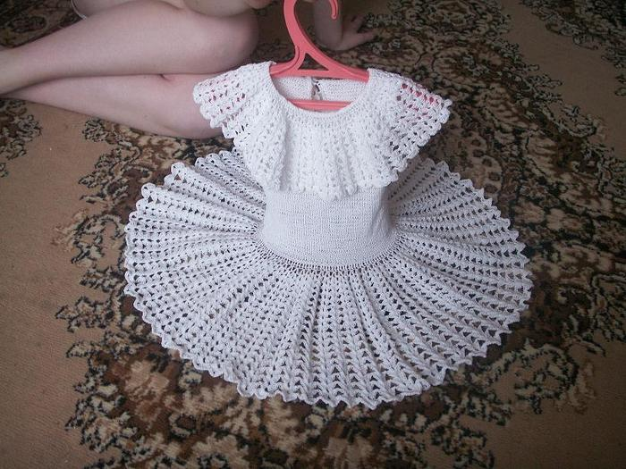 Платье снежинка связанное крючком