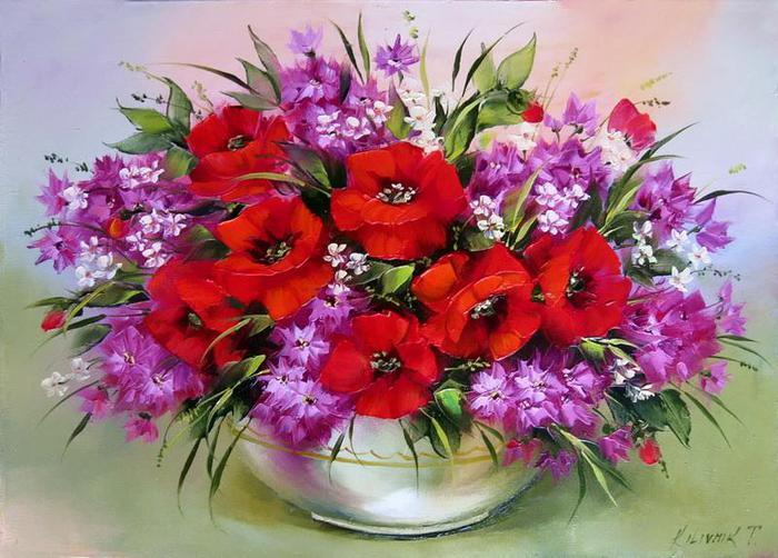 Великолепные полевые цветы в живописи