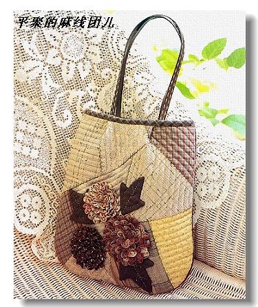 Гламурная сумка из остатков ткани.