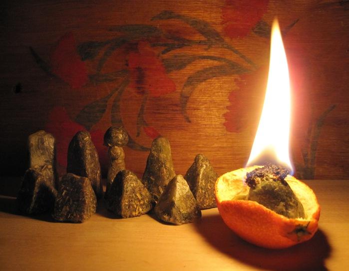 Как сделать свечу из трав