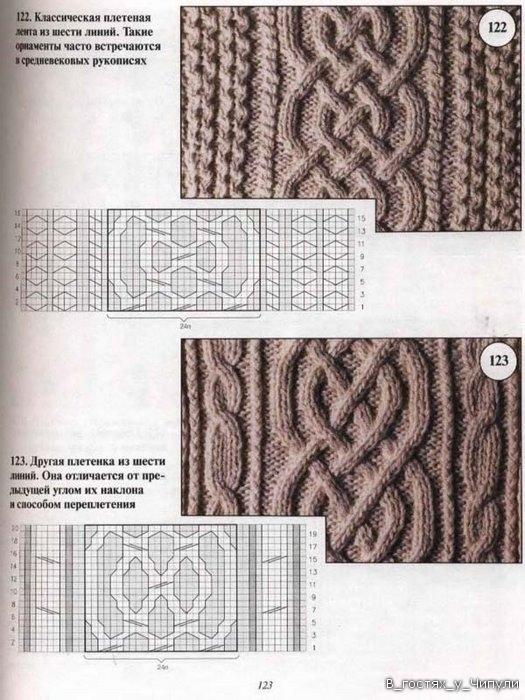 Вязание спицами ирландские узоры со схемами 13