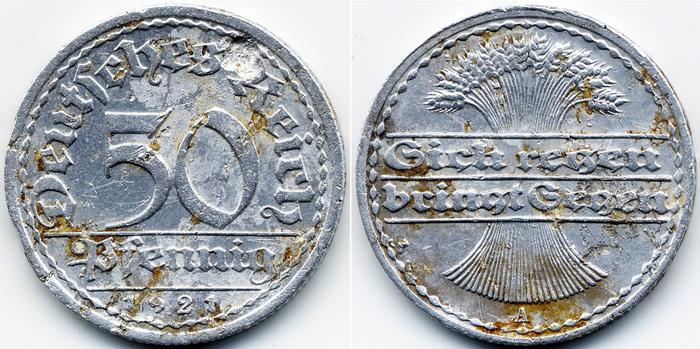 50 pfennig 1921 цена карты для поиска с металлоискателем
