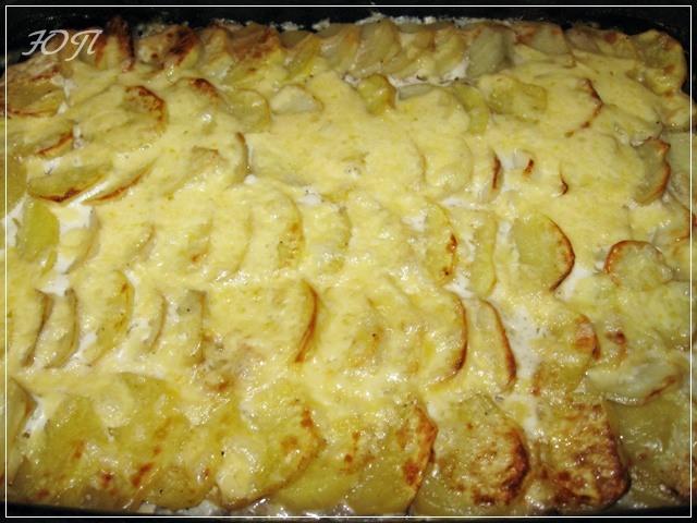 Картошка запеченная в духовке с майонезом и сыром рецепт с пошагово