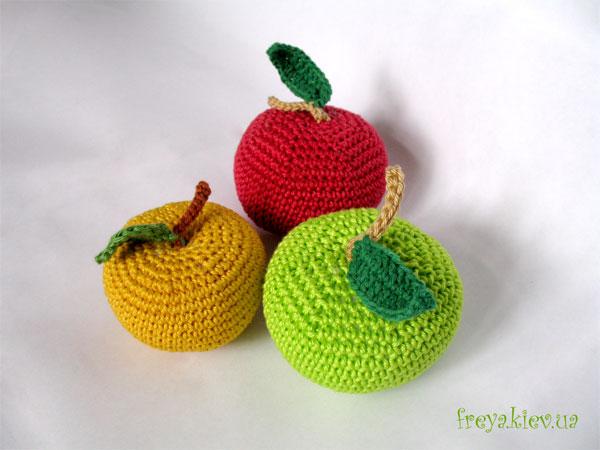 Часть 9 - Вязаные яблоки.