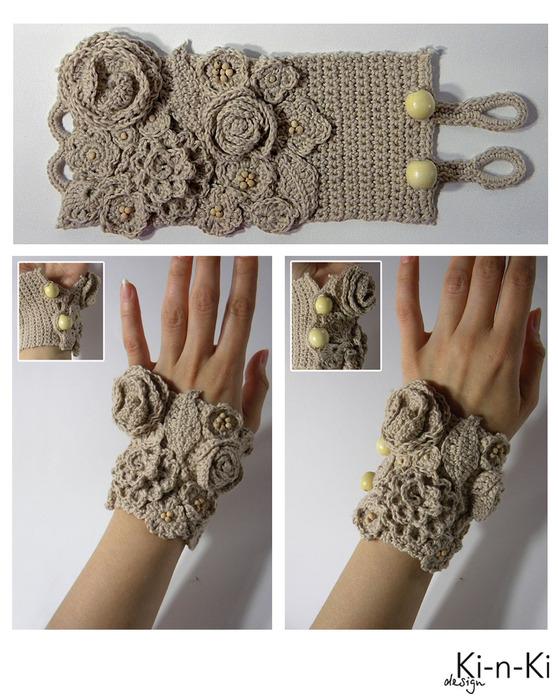 Манжеты из ткани своими руками