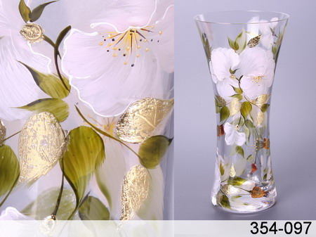 Как задекорировать прозрачную вазу