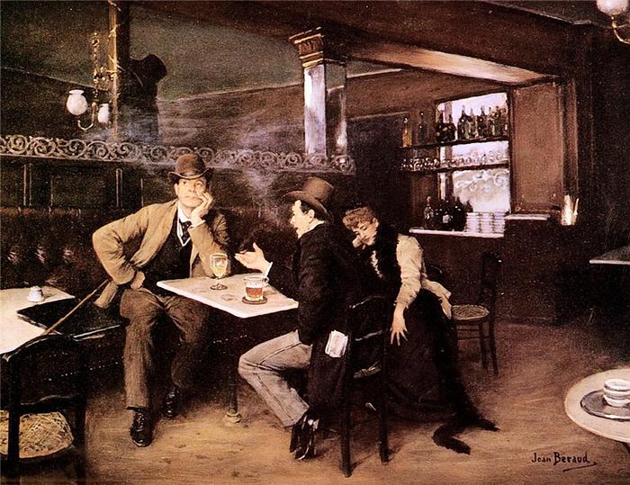 Jean Béraud «At the Bistro (700x539, 443Kb)