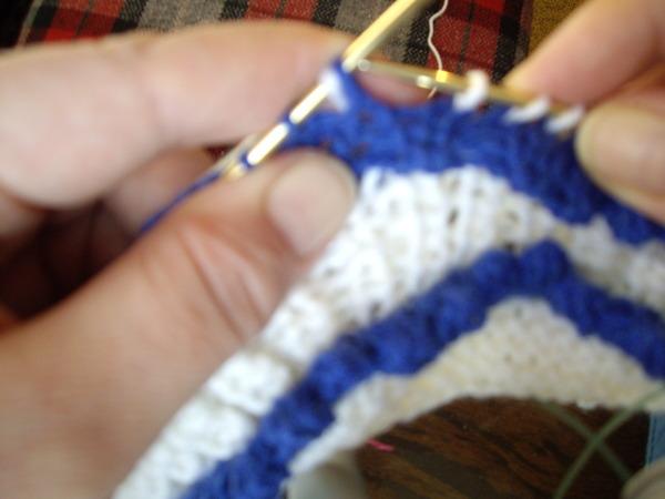 Вязание зубчиков у пинеток 492