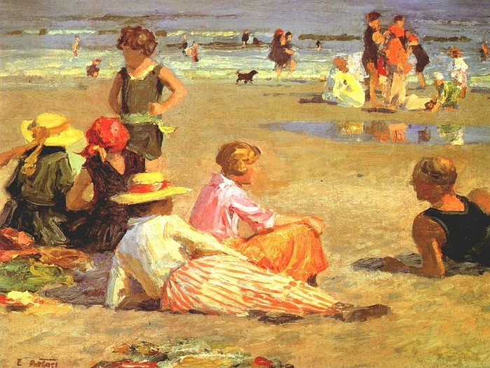 Edward Henry Potthast (1857-1927).manhattan-beach-c1919 (700x525, 342Kb)