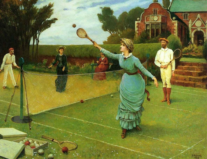 Horace Henry Cauty - The Tennis Match (700x539, 342Kb)