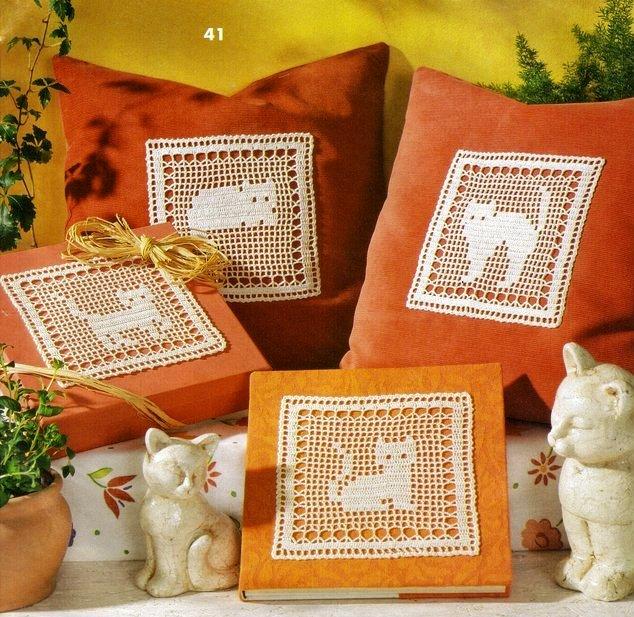 Для любителей кошек, котов и котят - несколько идей филейного вязания для домашнего интерьера.  Прочитать целикомВ.