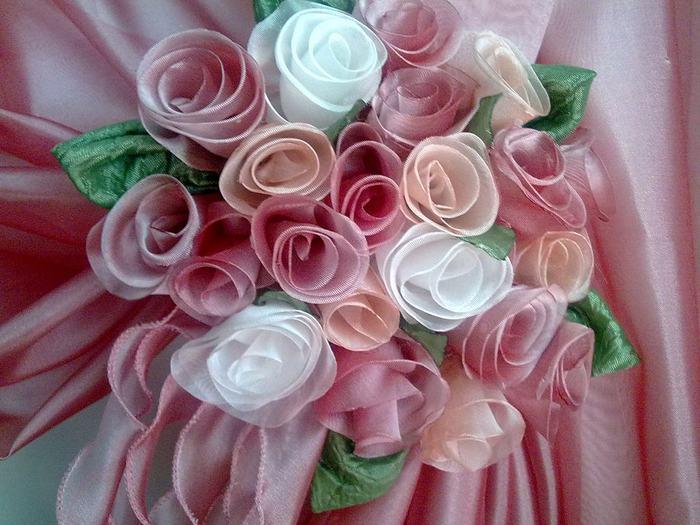 Розы для штор своими руками