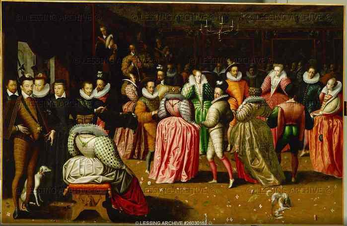 Бал в лувре французская школа 1582 г
