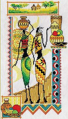 В набор входит цветная схема, канва Аида 14 Гамма белого цвета, мулине Гамма, игла Гамма, инструкция.