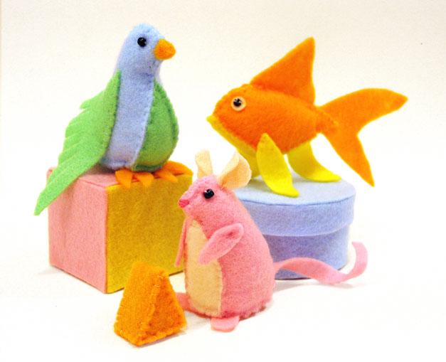 игрушки из фетра (627x509, 46Kb)