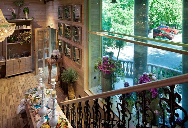 Дизайн интерьера цветочных магазинов