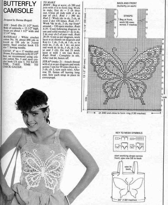 带有蝴蝶图案的钩品 - maomao - 我随心动