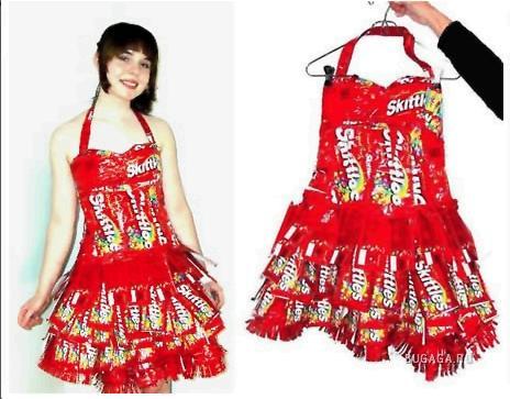 Платья из бумажных салфеток фото