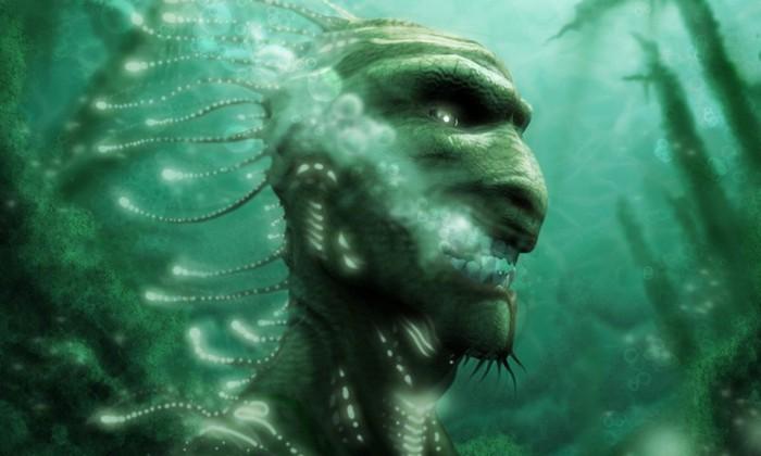 рыбак поймал пришельца со щупальцами