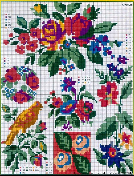 punto croce 375 motifs (8) (534x700, 326Kb)