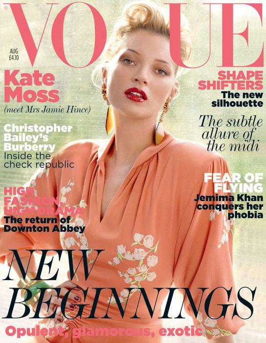 Кейт Мосс на обложке Vogue UK August 2011