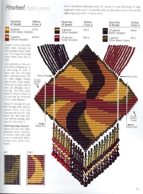 герданы и гайтаны схемы плетения бисером.