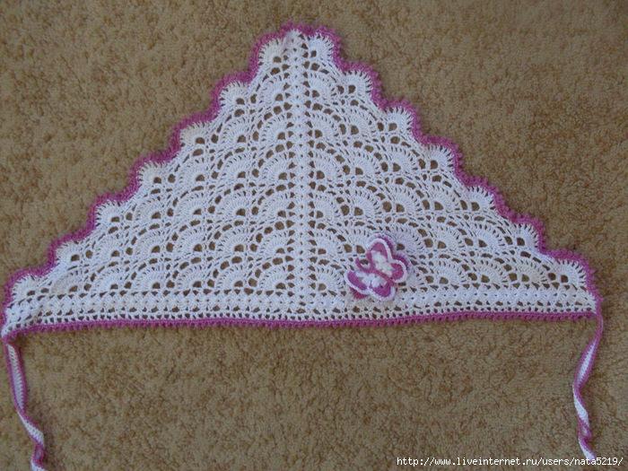Вязание крючком косынки.  Схемы вязания косынок и платков.
