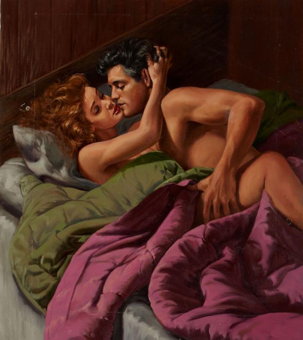 Ed Tadiello Romance Illustration Original Art (undated) (623x700, 408Kb)