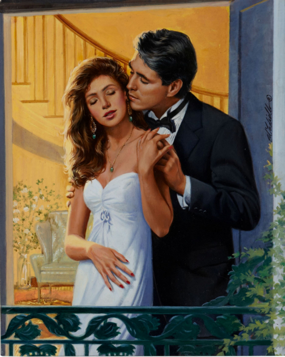 Ed Tadiello Romance Illustration Original Art2 (560x700, 412Kb)