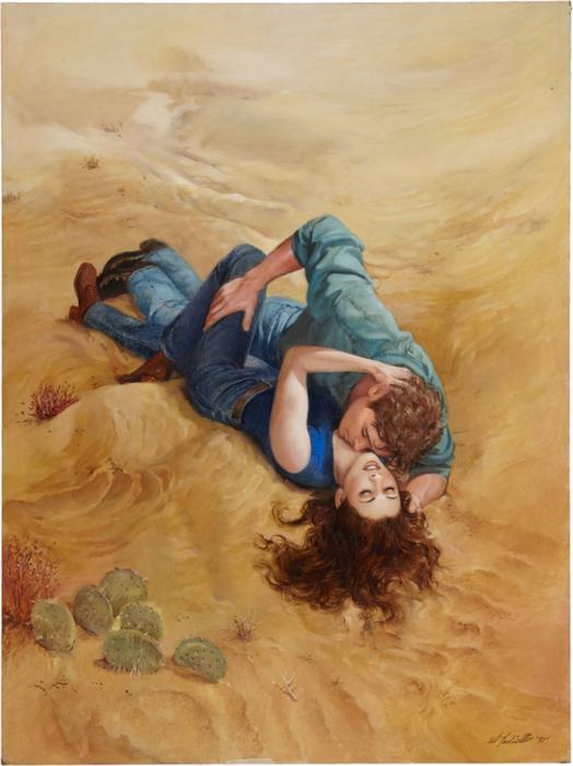 Ed Tadiello Romance Paperback Cover Illustration Original Art (524x700, 393Kb)
