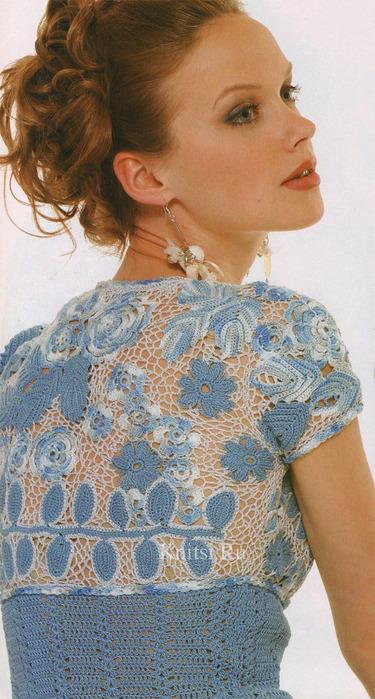 Блузки С Вязаной Крючком Кокеткой