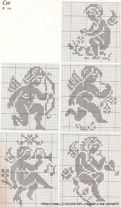 Схемы для вышивки и вязания