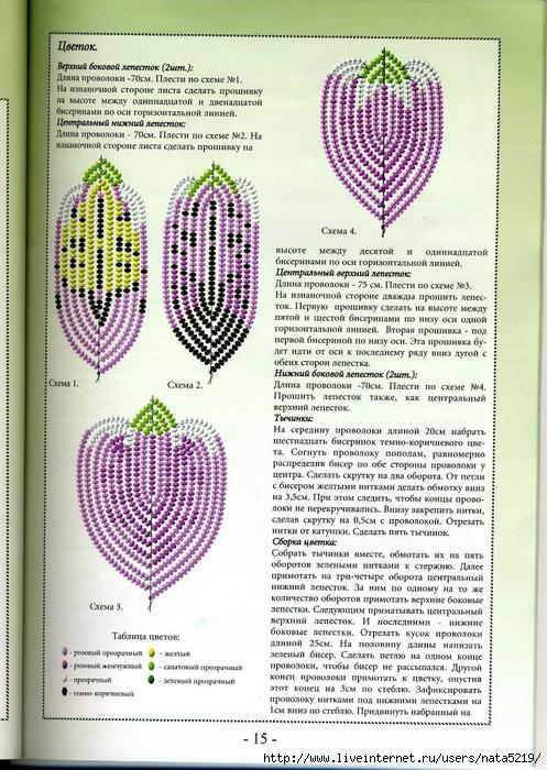 Альстромерия из бисера.