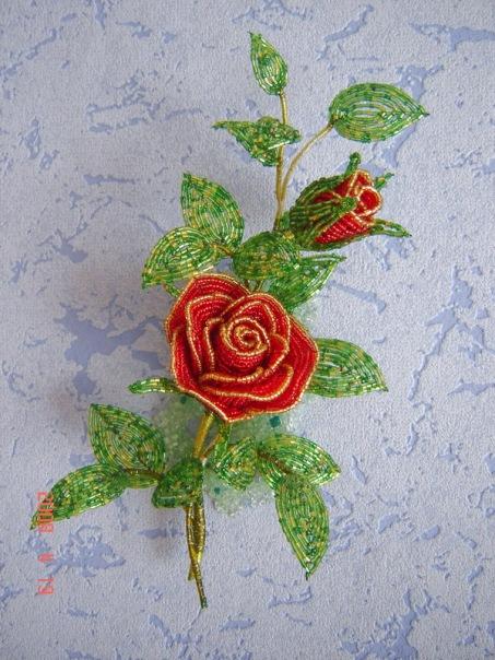листики для розы из бисера - Сайт о бисере.