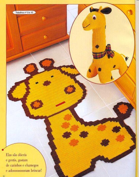 Такие веселые коврики очень нравятся и детям, и взрослым.  Веселые детские коврики, связанные крючком.