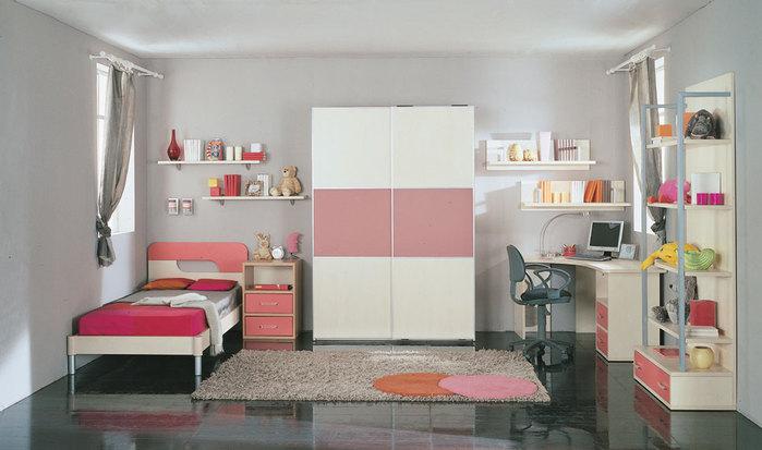 проект детской комнаты для двух школьников