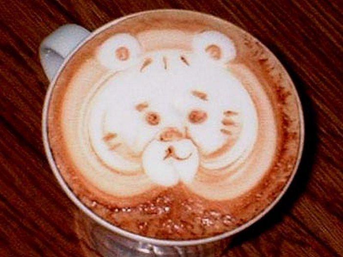 Красивая пенка на кофе (49 фото) .