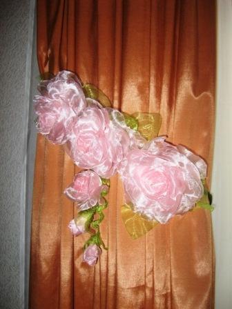 Цветы из ткани мастер класс для штор 76