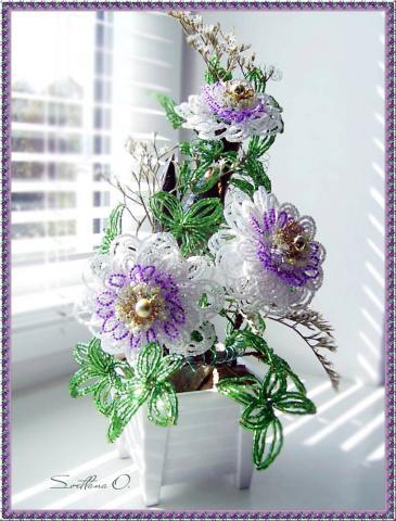 свой цитатник или сообщество! цветы из бисера. как живые.  Прочитать целикомВ.