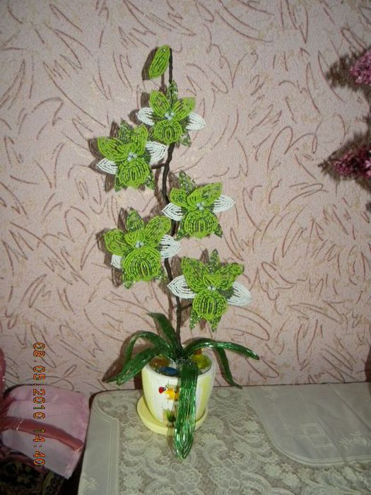 Бисероплетение орхидеи схемы.