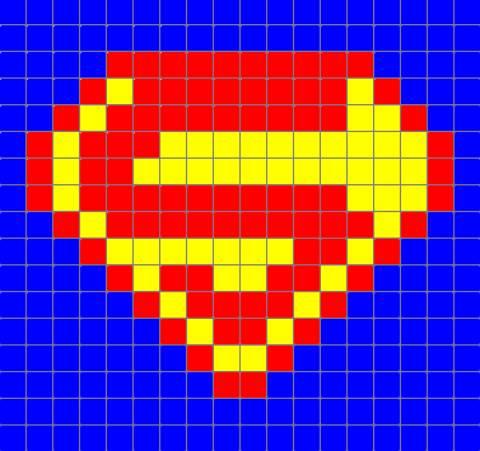 Схема супермена бисер