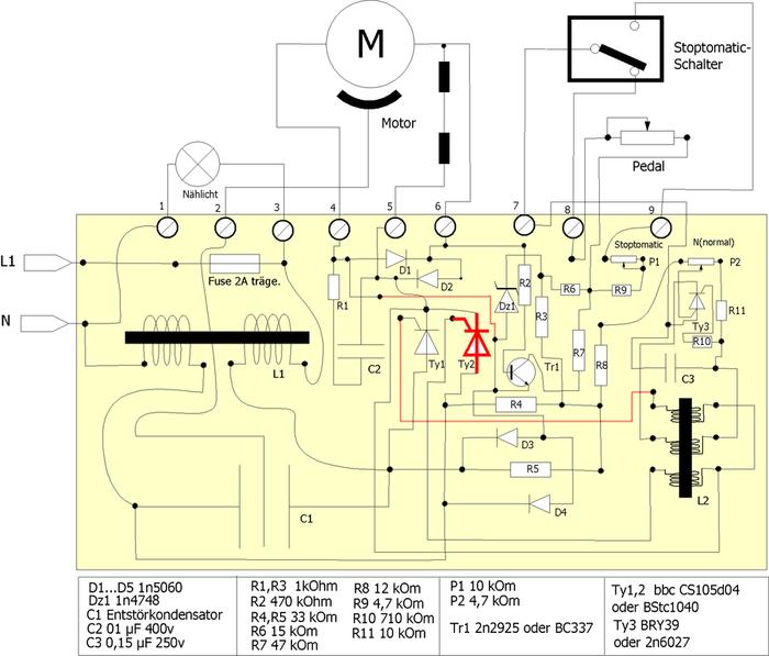 Pfaff 1222 und die Elektronik - Kiter Hobbyraum - Drachen Forum