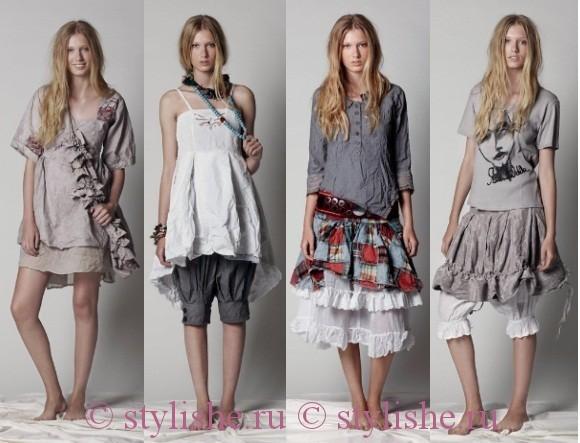 Стиль Бохо в одежде - это смешение нескольких стилей, принадлежащих к...