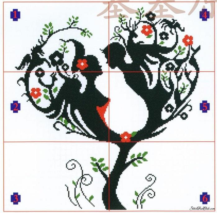 10 января, 16:29.  Девочки пожалуйста, очень нужна схема такого деревца.  Буду очень благодарна!  Рукоделие.