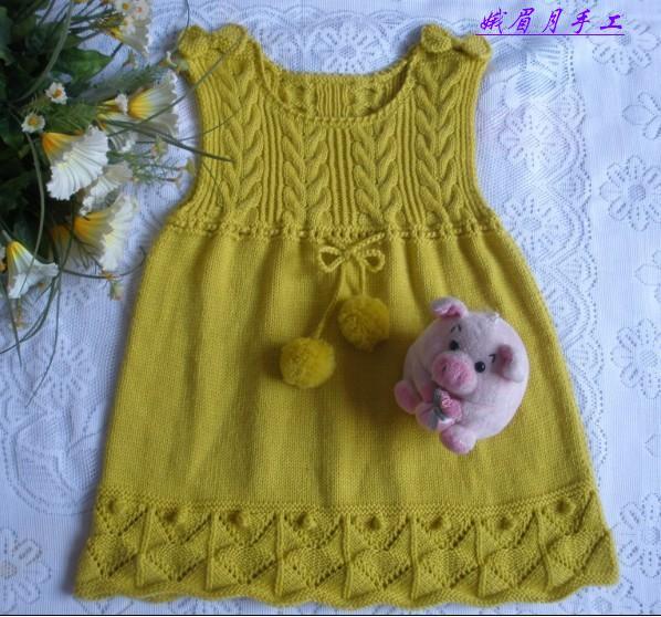 Вязаные платья для девоч