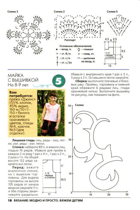 Вяжем детям и схема вязания
